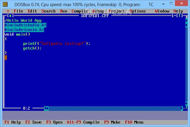 Рис. 5. Turbo C++