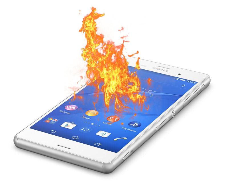 Рис. 1. Перегрев может стать причиной выхода смартфона из строя.