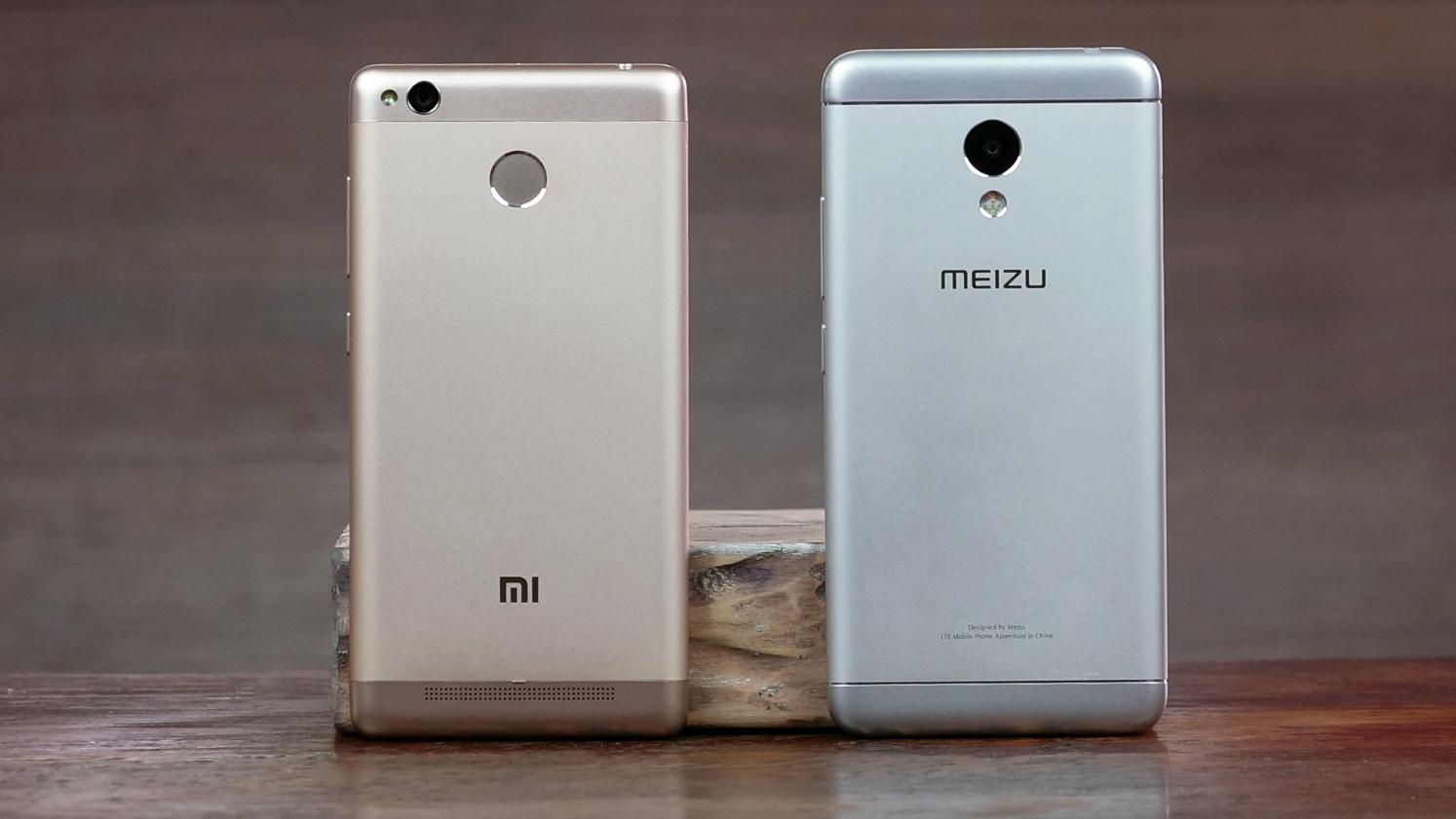Рис. 1. Модели Xiaomi и Meizu похожи по параметрам, поэтому и являются конкурентами.