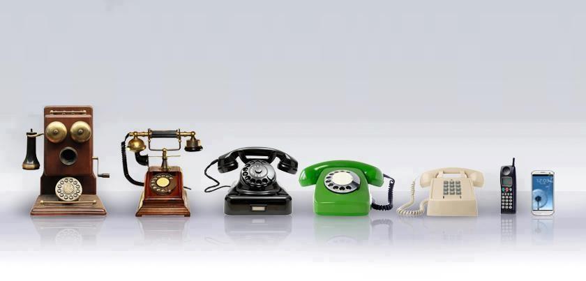 <Рис. 13 Эволюция телефонной связи>