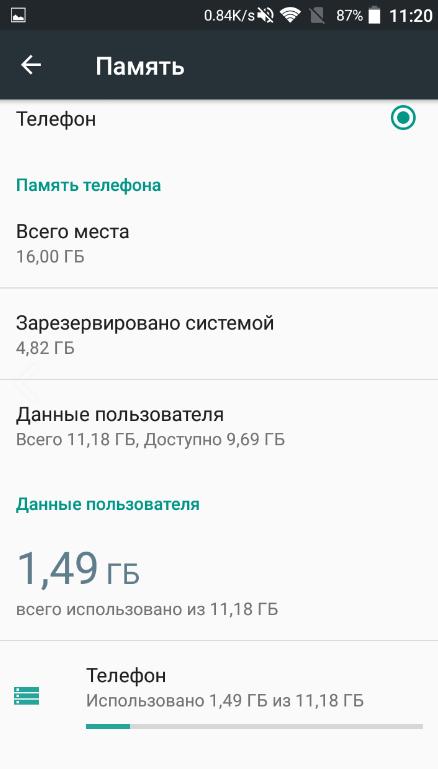 Рис. 14 – Характеристики смартфона