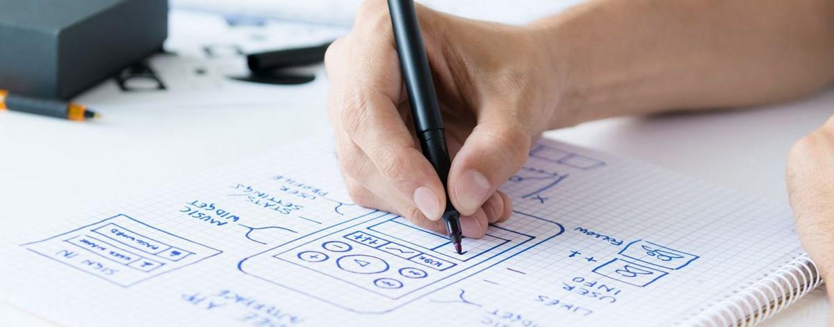 Рис. 18 – разработка дизайна на бумаге