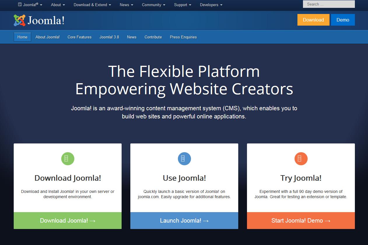 Рис. 22 – Сайт на Joomla