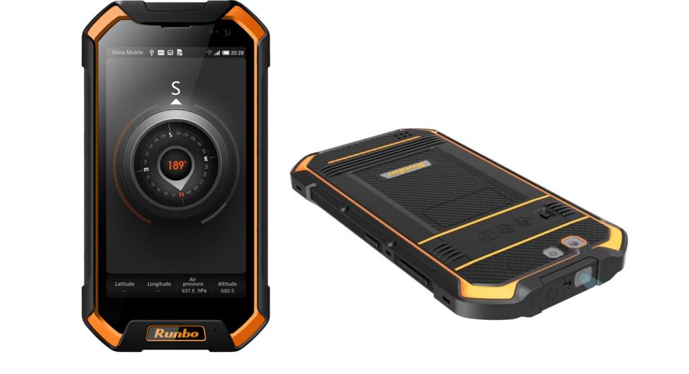 Рис. 3. Защищённый смартфон Runbo F1 Plus.