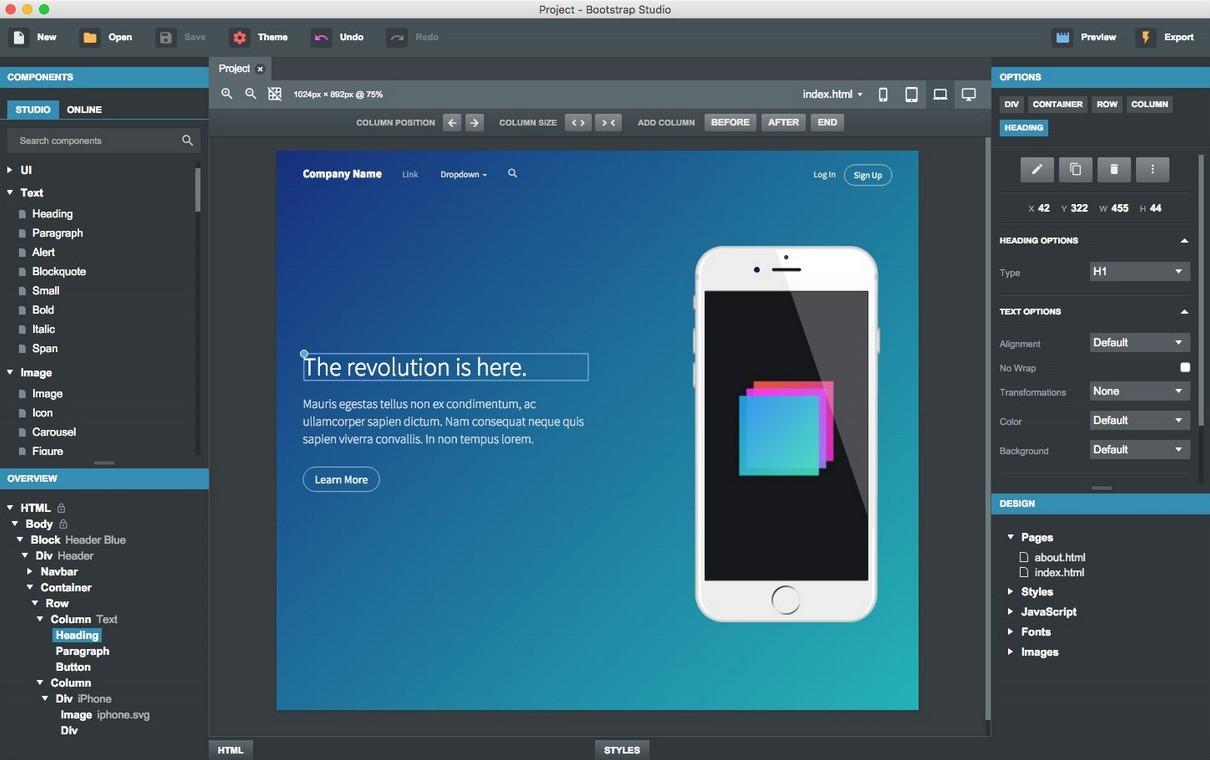 Рис. 34 – Bootstrap – набор готовых решений для начинающего веб-мастера
