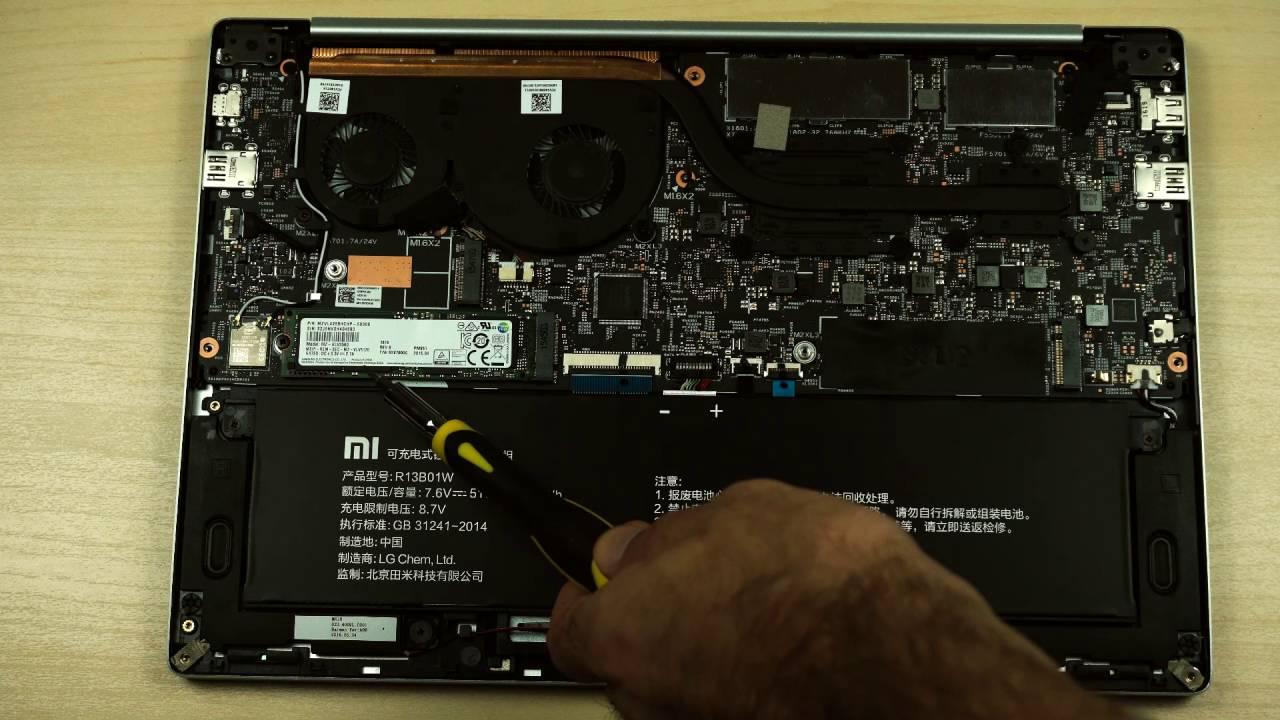 Рис. 4. Ноутбук в разобранном виде.