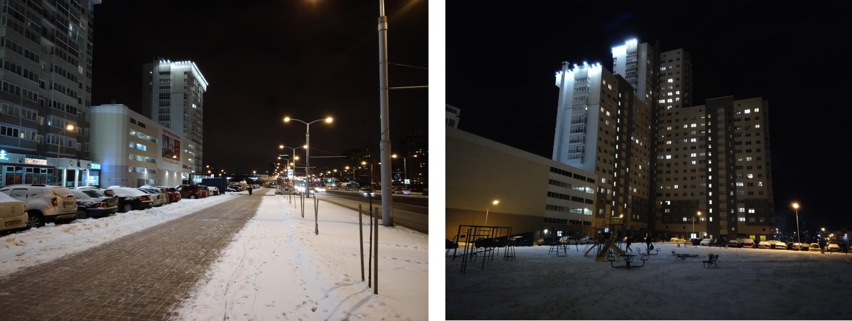 Рис. 5. Фотографии, сделанные на аппарат ночью