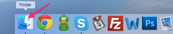 Рис.5 – Dock-панель операционной системы