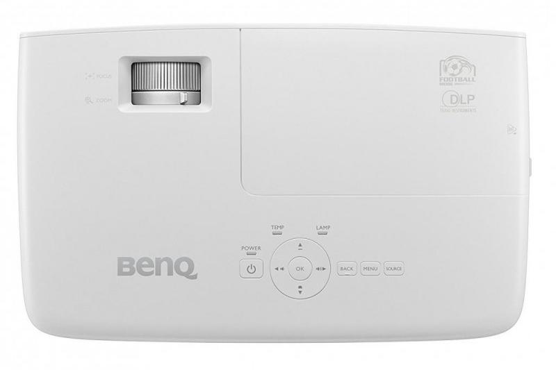 Рис. 5. Вид сверху на мультимедийный проектор W1090.