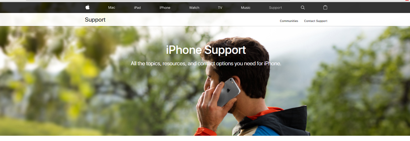 Рис.7 – сайт технической поддержки Apple