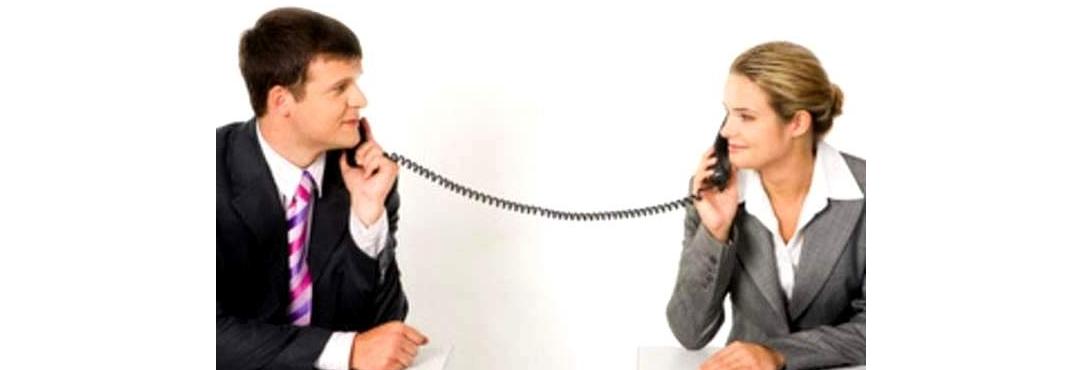 Рис. 1. Разговор двух людей по телефону