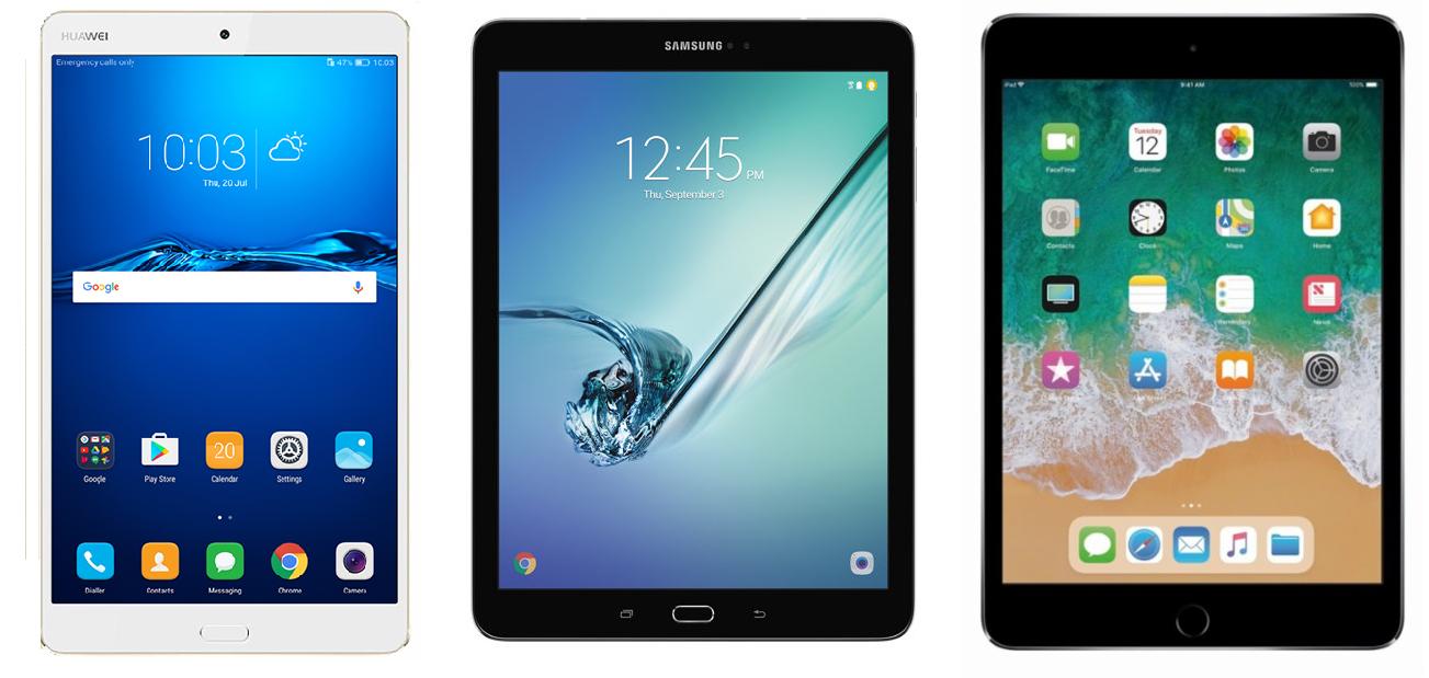 Рис. 13. Сравнение планшета с дорогими моделями-конкурентами от Apple и Samsung.