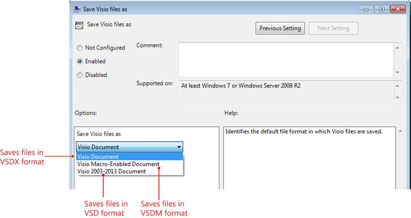 Рис.2 – три типа форматов в MS Visio