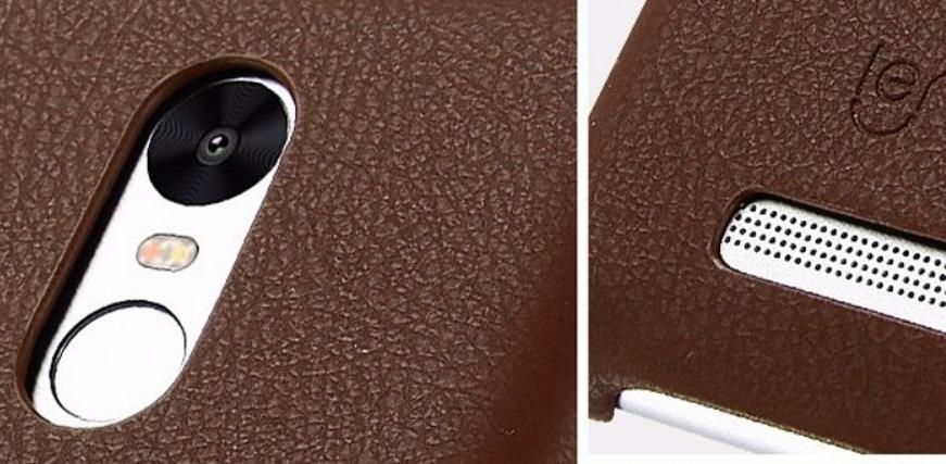 Рис. 3. Отверстия в чехле под камеру, сканер отпечатков и динамик.