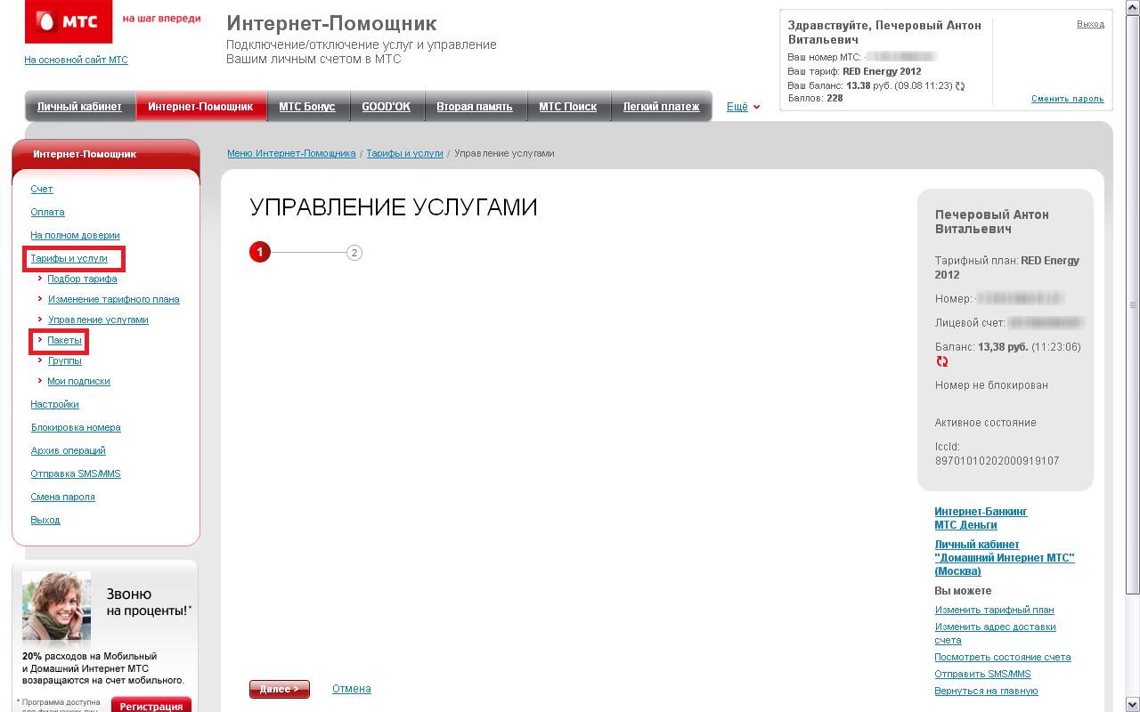 Рис. 3. Интернет-помощник для абонентов из Украины