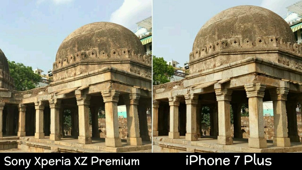 Рис. 7. Фото передней камерой Sony в сравнении с Айфоном 7 Плюс.
