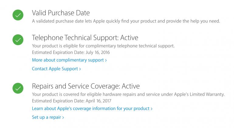 Рис.8 – проверка телефона на сайте Apple