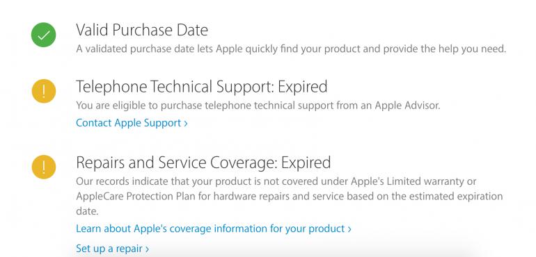 Рис. 9 – попытка проверки поддельного iPhone