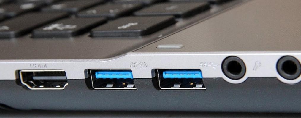 Рис. 1. Порты USB ноутбука.