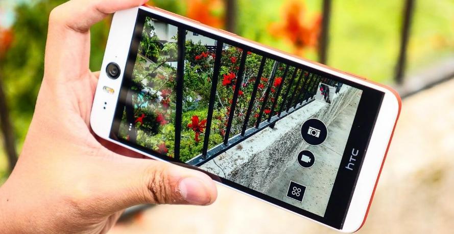 Рис. 10. HTC Desire Eye – для съёмки селфи под дождём.