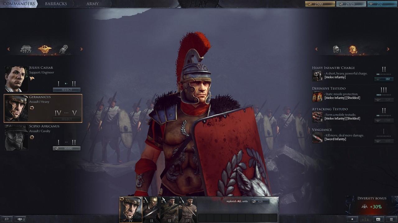 Рис. 11 – Германик на собственном примере покажет, как надо рубить в ближнем бою
