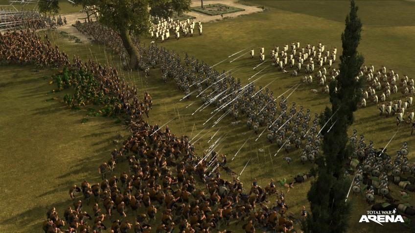 Рис. 15 – Скрывшись за пехотой, поливаем врага стрелами