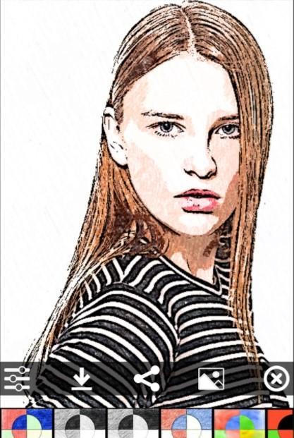 Рис.23- редактирование картинки в приложении «Sketch Камеры»
