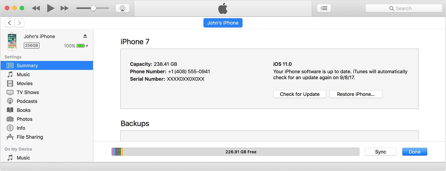 Рис.4 – установка прошивки с помощью iTunes