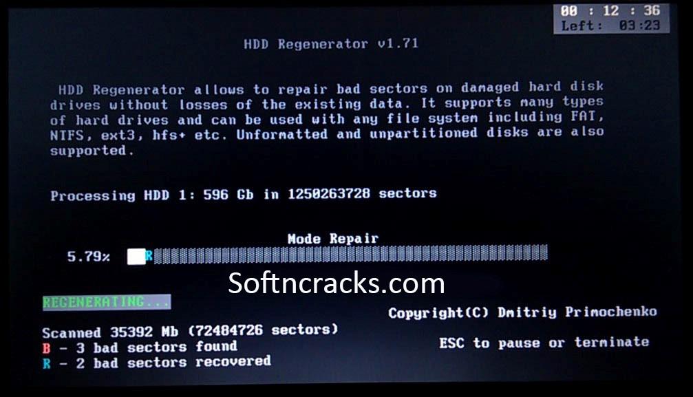 Рис. 4. Работа приложения HDD Regenerator.
