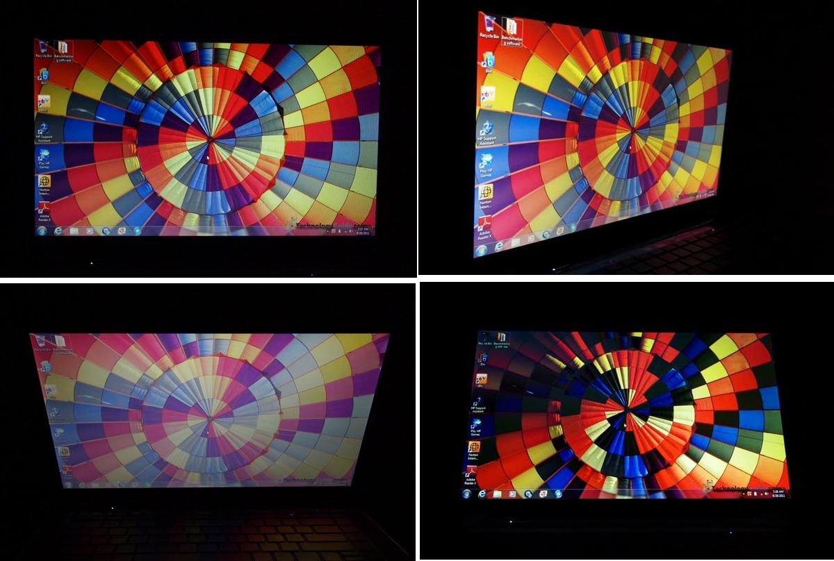 Рис. 9. Экран под разными углами