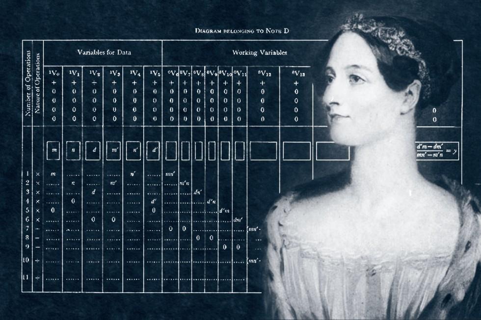 Рис. 1. Ада Лавлейс – первая женщина-программист.