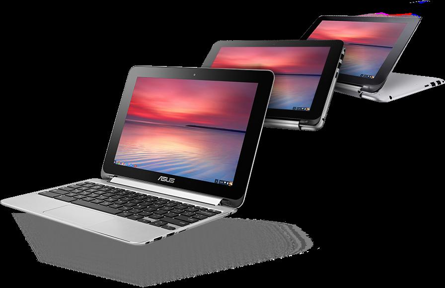 Рис. 10. Asus Chromebook Flip – упрощённая модель, подходящая для создания сайтов.