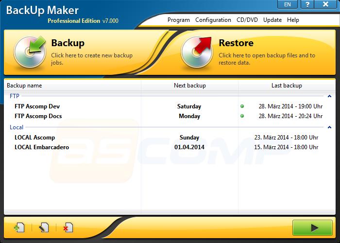 <Рис. 10 BackupMaker>
