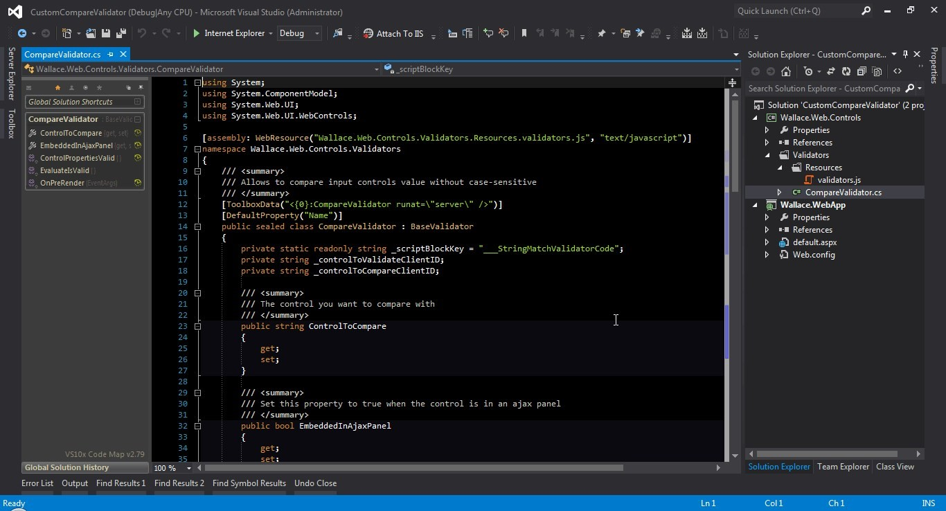 Рис. 5. Программная среда Microsoft Visual Studio.