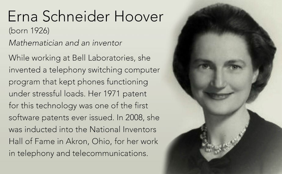 Рис. 5. Эрна Гувер – владелец одного из первых патентов на ПО.
