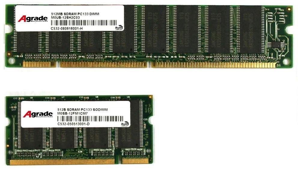 Рис. 6. Отличия модулей DIMM и SO-DIMM.
