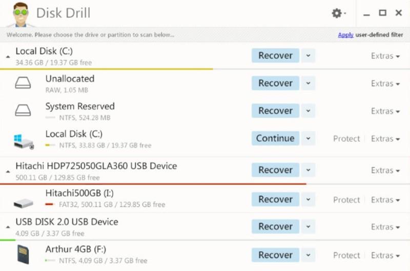 Рис.10. Рабочее окно программы Disk Drill.