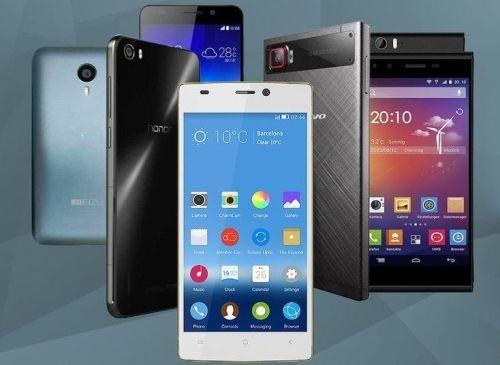 Рис. 4. Китайские смартфоны