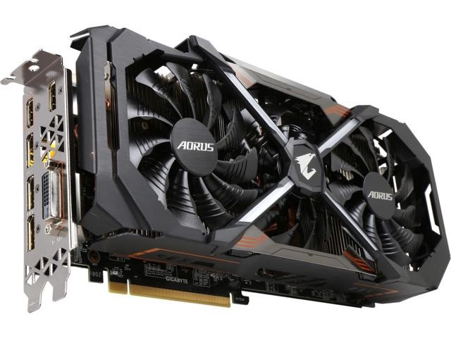 Рис.4 Внешний вид видеокарты Aorus GeForce GTX 1080 xtreme edition.