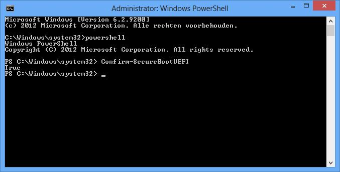 Рис.4 – Проверка режима работы Secure Boot через командную строку в Windows 10
