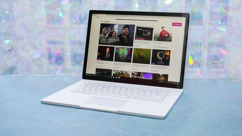 Рис. 4. Microsoft Surface Book 2 с 15-дюймовым дисплеем и игровым видеопроцессором.