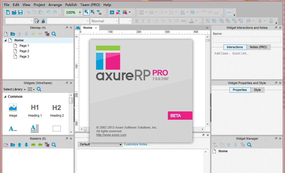 Рис. 5 – Готовый проект, созданный в Axure RP Pro
