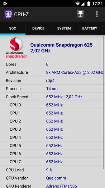 Рис. 9. Проверка данных процессора в программе CPU-Z