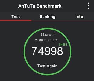 Рис.11 Результат тестирования в бенчмарке AnTuTu.