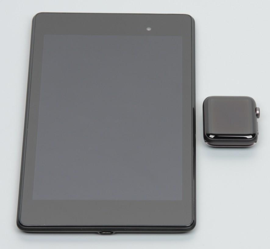 Рис.13 – соотношение размеров часов и iPad