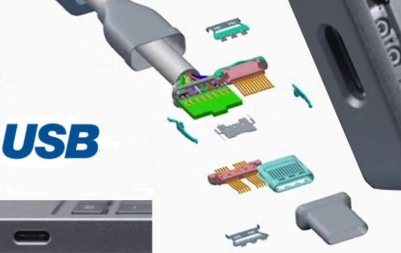 Рис.19 Элементы USB Type-C.