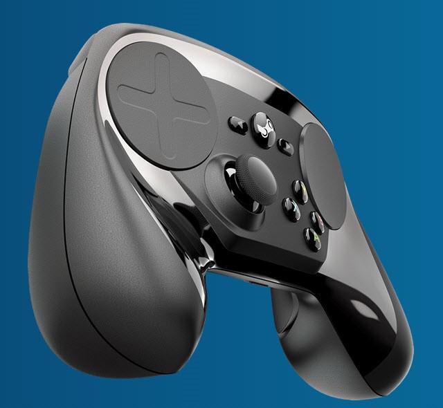 Рис.19 Внешний вид игрового устройства Steam Controller.