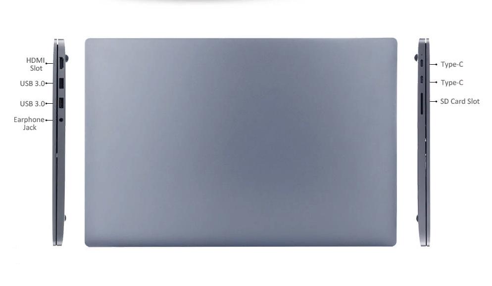 Рис. 3. Вид на ноутбук с разных сторон.