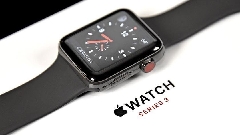 Рис. 9. Последнее поколение смарт-часов Apple, Watch Series 3.