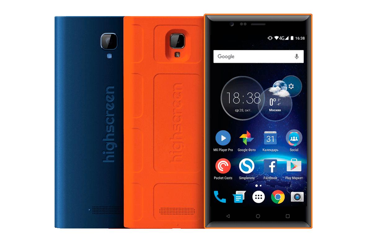 Рис. 2. «Музыкальный» смартфон Highscreen Boost 3 SE.